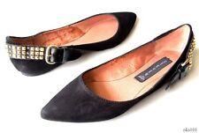 NIB STEVE MADDEN 'Eavan' black suede STUDDED ballet flats shoes 6 - GORGEOUS