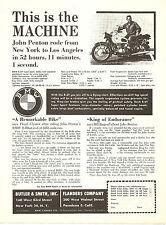 BMW R-26, R-50, R-60 R-69 Shaftdrive Motorcycles  Single Sheet 1960