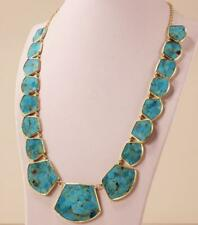 IPPOLITA ROCK CANDY 18K YELLOW GOLD POLISHED TRAPEZOID TURQUOISE BLOCK NECKLACE