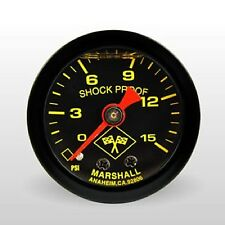 "Marshall Fuel Pressure Gauge Mnb00015; 0 to 15 psi 1-1/2"" Full Sweep Mechanical"
