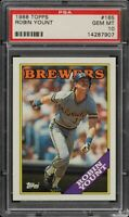 1988 Topps BB Card #165 Robin Yount Milwaukee Brewers HOF PSA GEM MT 10 !!!!!