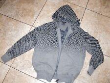 Mens~MAHARISHI~Signature 100%Cotton Logo Hooded GrayFull  Zip Jacket size  S