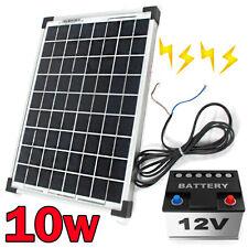 10W 12V Mini Solar Panel kit Portable Caravan Boat Camping Power Battery Charger