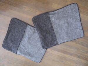 HiEnd Accents Erschwinglicher Luxus Set von Zwei (2) Übergroß Kissenbezüge Black