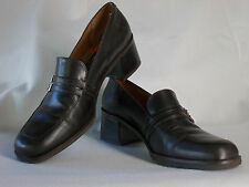 Ipanema Women's Dress Loafers with double monk strap and buckles, brown, EUC