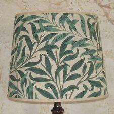 William Morris Willow Bough - Medium Handmade Oval Lampshade Table Lamp