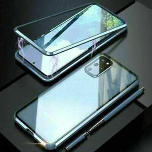 For Samsung Galaxy S21 S20 S10 S9 Note - 360° Magnetic Double-Sided Glass Case