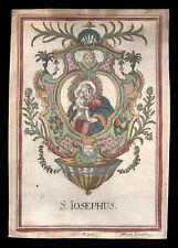 santino incisione 1700 S.GIUSEPPE a. schmid