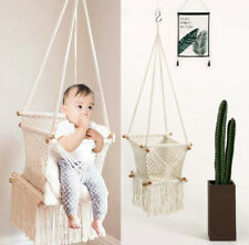 Baby Toddler Hanging Swing Chair Wooden Swing Seat Infants Indoor Outdoor Swing