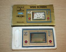 NINTENDO FIRE GAME & WATCH FR-27 Wide Screen 1981 EUC Original Box JAPAN WORKS