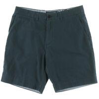 Tommy Hilfiger Shorts Khaki Chino Custom Fit Core Navy Twill Sz 32 NEW Mens