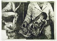 Politische Kunst, 1976. Grosse Radierung Peter SORGE (1937-2000 D), handsigniert