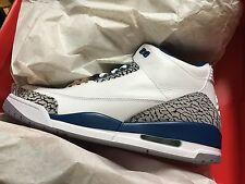 Air Jordan 3 Retro White / True Blue  Sz 10.5    2011 Release