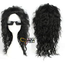 Anime Black 50CM Long Curly Hair for Michael Jackson Super Star Men Cosplay Wig