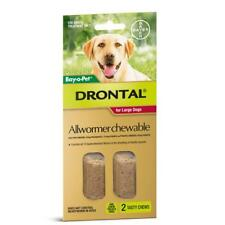 NEW PET Drontal Allwormer Chewable for Large Dogs 35kg 2pk