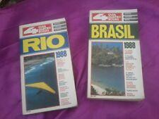 ALTE REISEFÜHRER-RIO+BRASIL-von 1988-PORTUGIESISCHE SCHRIFT-4 GUIA QUATRO RODAS