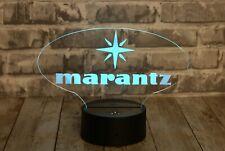 MARANTZ LED LIGHTED SIGN VINTAGE LOGO HOME AUDIO High Quality 16 Color Base