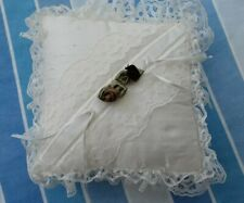 Ivory Lace and shot silk Wedding Cushion Ring Pillow