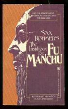 Insidious Dr Fu Manchu Paperback Sax Rohmer- 1st Zebra books edition