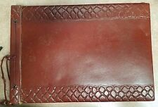 VINTAGE PHOTO ALBUM OR SCRAP BOOK WITH BLACK PAGES SHOWS WEAR