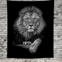 Lion Animal Wall Hanging Tapestry Cover Decor Towel Throw Blanket Bedspread Mat