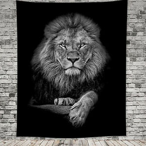 Animal Art Lion Tapestry Hippie Wall Hanging Home Bedspread Throw Cover Decor