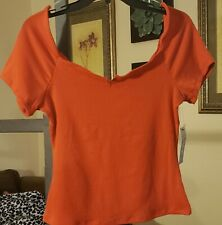 Tresics Orange Crop Top Shirt Size Medium and Small NEW