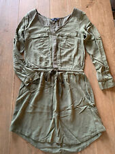 American Eagle Olive Green Military Shirt Dress - Size Small