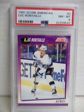 1991 Score American Luc Robitaille PSA NM-MT 8 Hockey Card #3 NHL