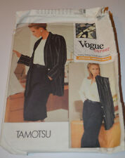 sewing pattern jacket skirt & trousers suit Vogue career