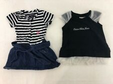 Calvin Klein Jeans US POLO ASSN Size 2T Dress Lot Set of 2 Tulle Stripe EUC