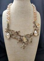 HEIDI DAUS Budding Branches Pave Crystal Necklace NWT