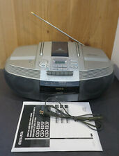 Serviced Aiwa Csd-Ed37 Stereo Am/Fm Cd Player Cassette Recorder Portable Boombox