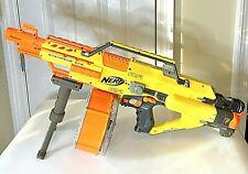 Nerf Stampede ECS Automatic Dart Gun & N-Strike 35 Round Drum Magazine & Tripod