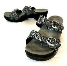Dankso Sophie Women's 40 US 9.5-10 Metallic Polka Dot Leather 2-Strap Sandals
