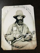 Confederate Texan With Pistol And Knife tintype C654RP