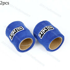 2PCS Racing Universal Blue HKS Reservoir Brake Clutch Car Oil Tank Cap Sock
