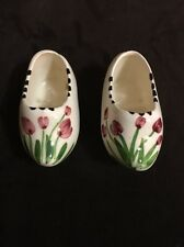 Vintage Mini Ceramic Dutch Shoes Hand painted
