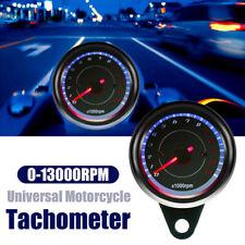 LED Backlight 13000 RPM Tachometer Scooter Tacho Gauge Motorcycle SpeedometeXBUK