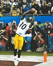 SANTONIO HOLMES 8X10 PHOTO PITTSBURGH STEELERS NFL FOOTBALL THE CATCH