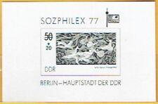 DDR Schwarzdruck SOZPHILEX Briefmarken-Ausstellung Berlin 1977