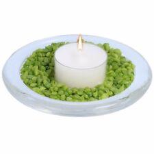 STRONG GLASS PLATE Candle Pillar Tea Light Plant Pot Base Stand Dish Holder