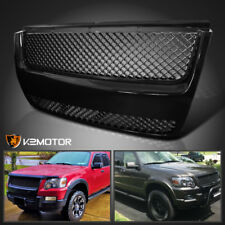07-10 Ford Explorer Sport Trac Front Mesh Hood Grill Grille Black