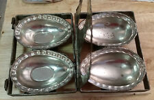 Vintage Antique (2) Large Eggs Easter Metal Chocolate Hinged Caged Mold
