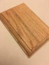 "Oak Rectangle Rosette. Unfinish stair parts for handrail . 6.5""x 4.375"""