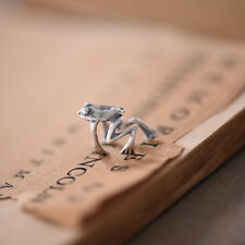 Cute Frog Women Ear Cuff Solid 925 Sterling Silver Single Earring No Piercing
