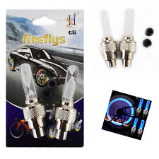 2* LED Light Flash Auto Multi Colour Changing Car Bicycle Motorcycle Valve Wheel