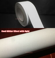 White Car House Glitter Flicker Twinkle Sparkle Vinyl Wrap Tape Decal Sticker AB