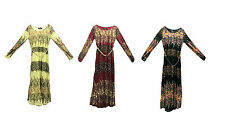Girls Maxi School Dress Kids Floral Long Sleeve Holiday Abaya Islamic Top Belt