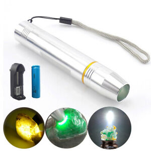 Jewelry jade stone high power LED detection flashlight white flash light torch